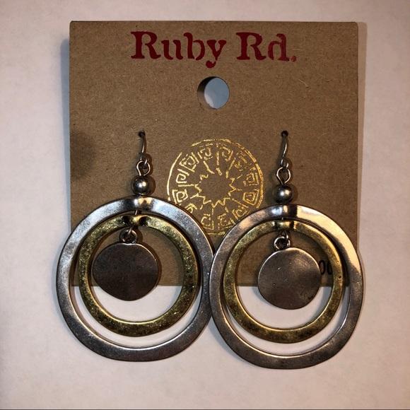 Ruby Rd. Jewelry - 🌻Silver & Gold Tone Earrings🌻